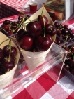 Super sweet cherries at Salamanca Markets
