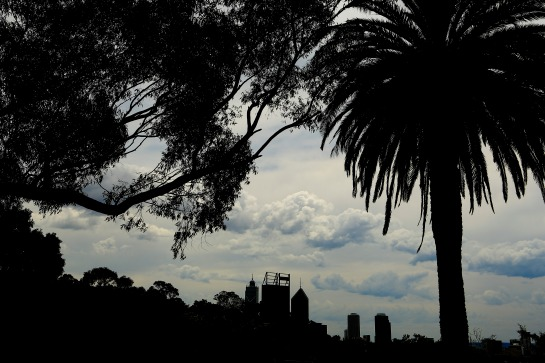 Perth silhouette from Kings Paek